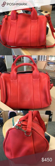 Alexander Wang Rocco - used once ! Alexander Wang Rocco - used once !  Excellent condition. What you see is what you get. No flaws that my eyes can see. Let know if you have ?s. Absolutely authentic. Alexander Wang Bags