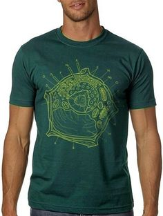 by nonfictiontees on Etsy Cute Tshirts, Cool T Shirts, Tee Shirts, Science Tees, Plant Cell, Complimentary Colors, Geek Chic, Teacher Shirts, Tee Design