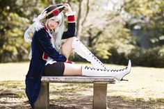 Hetalia (Nyotalia)- fem!Prussia. This is one of the best fem!Prussia cosplays I've seen!