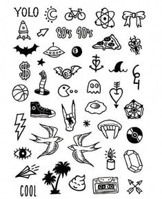 Basics 3 - Tattoonie Informations About Basics 3 Spooky Tattoos, Fake Tattoos, Mini Tattoos, Black Tattoos, Body Art Tattoos, Pretty Tattoos, Sketch Tattoo Design, Tattoo Sketches, Tattoo Drawings
