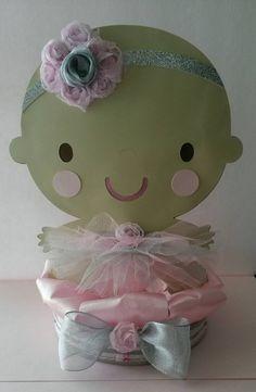 Ballerina Centerpiece First Birthday Baby by fourDOLLYSboutique