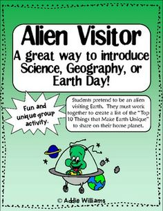 FREE Earth Day Activity - also a great way to introduce Science or Geography unit!