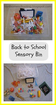 H is for Homeschooling: Back to School Sensory Bin