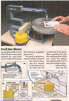 DIY Scroll Saw Blower - Scroll Saw