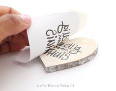 DIY Text On Wood ♥