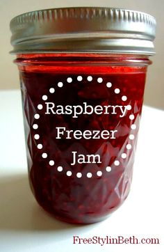 Love Raspberries!  Love Freezer Jam!  Wish I would make it or bake it.  Sadly, I won't.