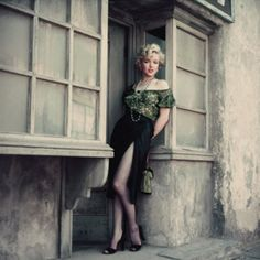 """On the back lot of 20th Century Fox on April 15th 1956. Marilyn is wearing the same blouse as her character Cherie in the film """"Bus Stop."""" This sitting was not done on set. It was released to promote Marilyn Monroe Productions. - @welovemarilyn- #webstagram"""