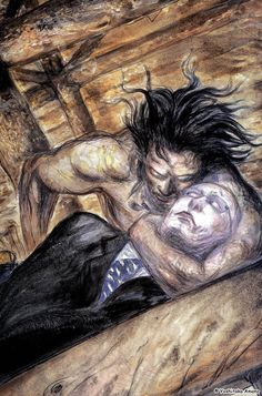 Illustration by Yoshitaka Amano from Elektra & Wolverine