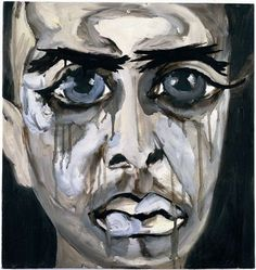Francesco Clemente - this painting haunts me - just as I see young people haunted by their thoughts...why must it be so