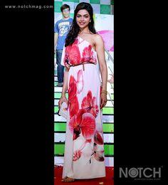 Deepika Padukone in a floral print maxi dress