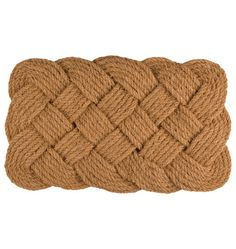 Braided Natural Coir Doormat   Rejuvenation #TakeItOutside