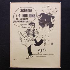 Poster - Organisation de Jeunes Travailleurs Revolutionaires - Friday Vintage