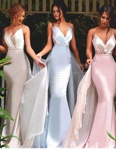 Long Spaghetti Straps bridesmaid dress, Mermaid bridesmaid dress, Sexy bridesmaid dress, Unique Style bridesmaid dress,Dres for wedding party. PD2172