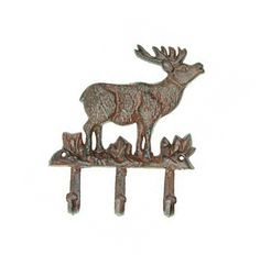 Fun gift for deer lovers or your cabin . Deer Decorative Hook Key Rack x Decorative Wall Hooks, Key Rack, Iron Wall, Outlets, Deer, Moose Art, Wall Decor, Museum, Lovers