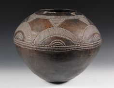 Africa | Vessel from the Makonde people of Tanzania & Northern Mozambique | Terracotta