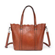 2017 Hollow Out Women Bag Luxury Handbags Women Shoulder Bags Designer Famous Brands Bolsas Large Capacity PU Leather Tote Bag Handbag Stores, Shoulder Handbags, Shoulder Bags, Large Bags, Handbags On Sale, Fashion Handbags, Luxury Handbags, Womens Tote Bags, Leather Handbags