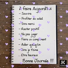 fr wp-content uploads 2015 12 Image-A-faire-aujourdhui-Studio-Karma. Positive Attitude, Positive Thoughts, Positive Vibes, Positive Quotes, Quote Citation, French Quotes, Think, Positive Affirmations, Happy Life
