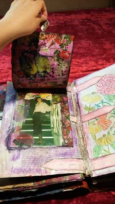 altered book, mix and much with journal junk, collage and mixed media-πειραγμένο βιβλίο, μίξη με πολλά, σκουπίδια περιοδικών, κολάζ και μεικτά μέσα Altered Books, Mixed Media, Collage, Journal, Artwork, Collages, Work Of Art, Auguste Rodin Artwork, Book Art