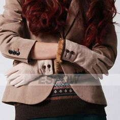 [US$39.99] Winter Warm Elegant Buttoned Rabbit Fur Woolen Gloves for Women