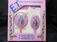 Rare To Find 1982 Vintage E.T Comb Brush  Mirror by JaysTreasures, $15.00