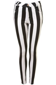 vertical stripes make you appear skinnier.. HAHAHA I <3 THESE! THINK BEETLEJUICE PEOPLE!
