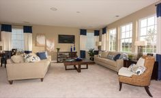This living space from @Lennar Charleston BLUE us away!