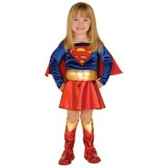 Take a look at this Red & Blue Supergirl Dress-Up Set - Infant & Toddler by Superman on today! Halloween Costumes Party City, Girl Superhero Costumes, Toddler Halloween Costumes, Super Hero Costumes, Baby Costumes, Cool Costumes, Costume Ideas, Halloween Ideas, Halloween 2013