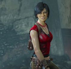 Chloe Frazier from Uncharted 2.An Australian native, Chloe Frazer is as tough and capable as she is beautiful. She's known throughout Drake's world as a gifted and adaptable treasure hunter with a nice ass and a long list of impressive accomplishments to her name. Equally comfortable in a gunfight or a fistfight - whatever the occasion demands.  her moral compass has a tendency to spin and her reckless nature can sometimes make her unpredictable.