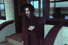 Image about girl in fashion💜💞 by Anetka on We Heart It Grunge Goth, Dark Fashion, Winter Wear, Stay Warm, How To Wear, Beautiful, Black, Inspired Outfits, Autumn