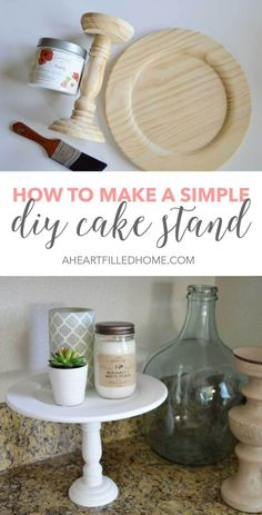 How to make a simple and easy DIY cake stand! Perfect for entertaining and decorating your home! How to make a simple and easy DIY cake stand! Perfect for entertaining and decorating your home! Cute Dorm Rooms, Cool Rooms, Diy Hacks, Ikea Hacks, Diy Décoration, Easy Diy, Simple Diy, Easy Home Decor, Dollar Stores