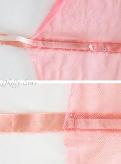 Step 2 - How to make a fairy princess cape - Easy DIY tutorial by Melly Sews