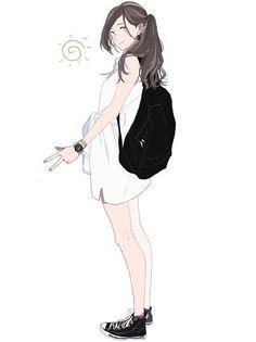 Kawaii in Wonderland Comics Illustration, Illustration Girl, Character Illustration, Manga Girl, Manga Anime, Character Concept, Character Art, Korean Art, Image Manga