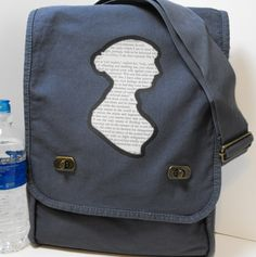 Jane Austen Romance Print Messenger Bag - Field Style. $35.00, via Etsy.