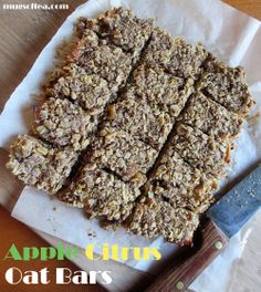 Apple Citrus Oat Bars Oat Bars, Dessert Recipes, Desserts, Banana Bread, Apple, Mugs, Food, Oatmeal Bars, Tailgate Desserts