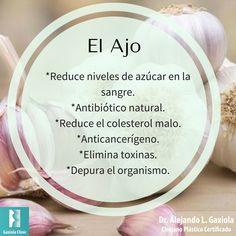 Hoy es miércoles de #información acerca de los alimentos.  Conoce los beneficios de incluir #ajo a la hora de cocinar.