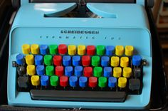 Image of colorful typewriter by Ralph Aichinger / via Flickr