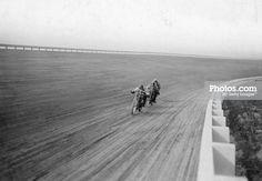 Motorbikes racing at Speedway Park, Maywood, Chicago, Illinois, USA, 1915. print…