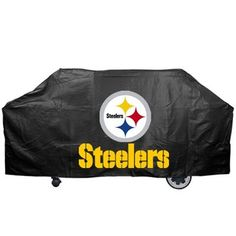 Pittsburgh Steelers Black Grill Cover