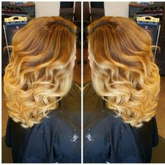 I love how my hair turned out! Blonde ombre! :)