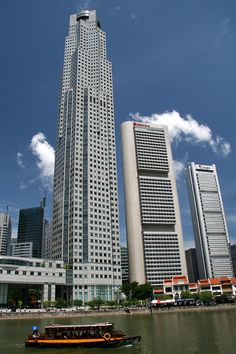 UOB Plaza by Singapore River is 1 of 3 Tallest buildings in Singapore
