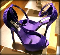 Steve Madden - purple sequined high heeled sandals
