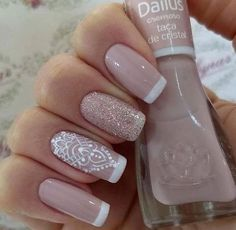 27 best ideas for nails art french manicure ongles French Nail Designs, Nail Art Designs, Ongles Beiges, Nail Deco, Wedding Nails Design, Perfect Nails, French Nails, Love Nails, Manicure And Pedicure