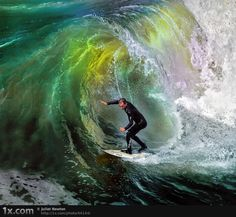 "Rainbow wave at Sunset ~ Miks' Pics ""Atypical Surfing Shots"" board @ http://www.pinterest.com/msmgish/atypical-surfing-shots/"