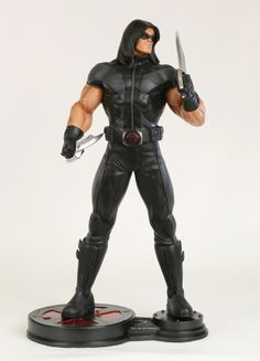 """X-Force Warpath statue WEBSITE EXCLUSIVE Sculpted by: Randy Bowen  Release Date: Winter 2012  14"""" tall overall"""