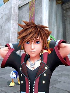 what a good boy. Kingdom Hearts Funny, Disney Kingdom Hearts, Sora Kh3, Hearts Rules, Proud Mom, Video Game Characters, New Theme, Final Fantasy, Blue Bird