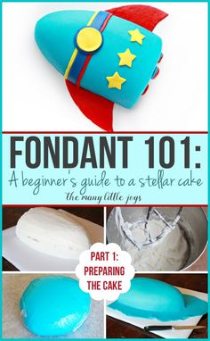 Have you ever wished you could make a really professional-looking cake? This two-part series will teach you everything you need to know about how to make a fancy fondant cake, starting with part one: how to prepare your cake. How To Use Fondant, Making Fondant, Fondant Tips, Fondant Icing, Fondant Cakes, How To Make Cake, Fondant Recipes, Cake Recipes, Fondant Figures