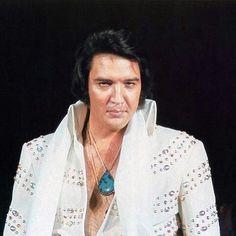 Elvis Presley Live On Stage Elvis In Concert, Elvis Presley Photos, Chuck Berry, Priscilla Presley, King Of Music, White Suits, Graceland, No One Loves Me, Belle Photo