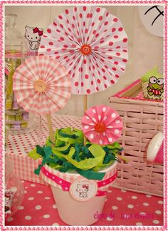"Photo 7 of 24: Hello Kitty / Birthday ""Hello Kitty in the garden"" | Catch My Party"