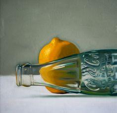 Lemon Cola Bottle - Oil painting by Lauren Pretorius http://cgi.ebay.com/ws/eBayISAPI.dll?ViewItem&item=161386411549