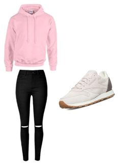 """School"" by wantyousobad on Polyvore featuring Mode, Gildan und Reebok"